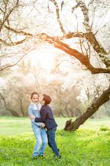 children, love, family, kiss, boy, girl, brother, sister, park, relationship