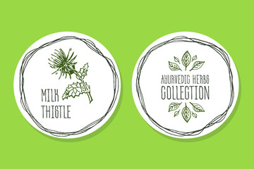 Ayurvedic Herb - Product Label with Milk thistle