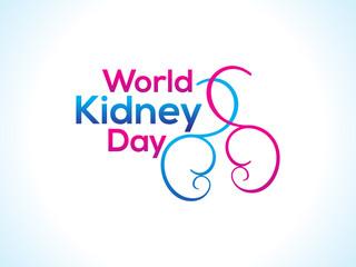 world kidney day background