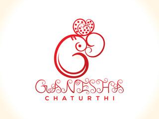 abstract artistic ganesh chatrurthi background