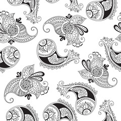 seamless pattern of indian cucumbers