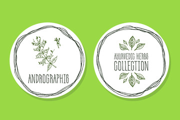 Ayurvedic Herb - Product Label with Andrographis.