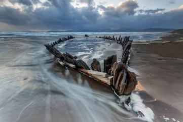 Sunbeam, Wreck at the Rossbeigh Beach, Co. Kerry, Ireland