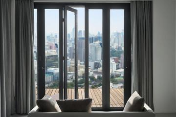 view Tokyo Skyline, Cityscape of Tokyo City, Japan, Beautiful tr