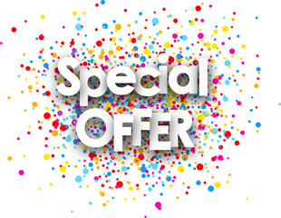 Special offer paper card.