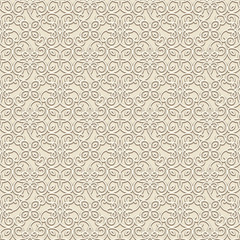 Vintage ornament, seamless pattern in neutral color