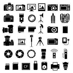 Camera Accessories Icons