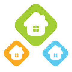 House vector icon isolated.