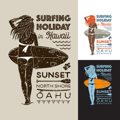 Surfing holiday in Hawaii