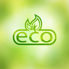 Green eco friendly background - abstract leaves.