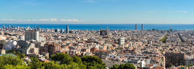 Skyline panorama of Barcelona, Spain
