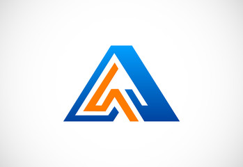 letter A triangle vector logo