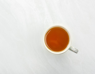 Tea is a top view