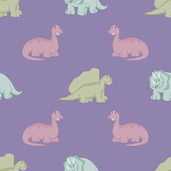 Funny dinosaurs. Seamless background