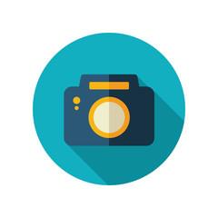 Photo Camera flat icon. Summer. Vacation