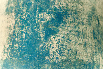 Old and vintage grunge background / Grain blue paint wall backgr