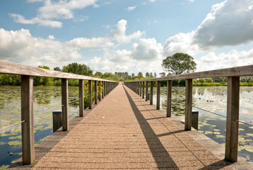 Wooden bridge..