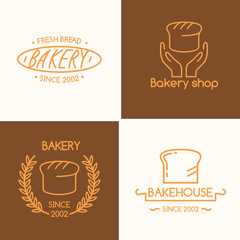 Set of vector illustrations for bakery