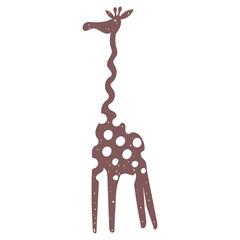 Vector giraffe cocoa color
