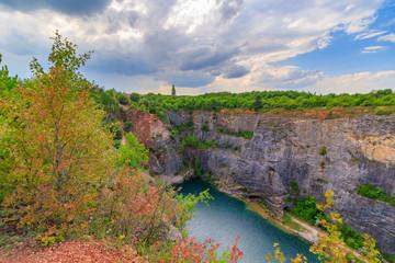 Stone quarry called Big America (Velka Amerika) near Prague, Czech Republic