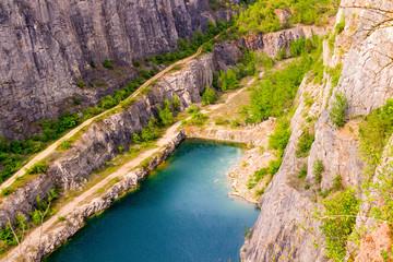 Abandoned Quarry called Big America (Velka Amerika) near Prague, Czech Republic