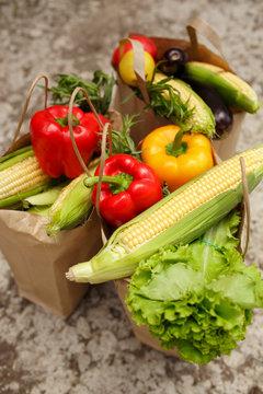 autumn fresh vegetables
