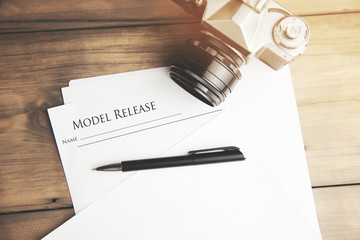 model release and camera