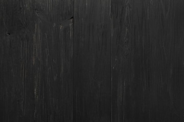 Black rustic wood texture and background.