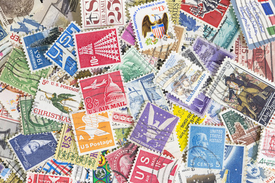 Collection of United States postage stamps