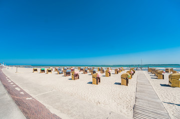 White sand beach and cabanas for relaxing