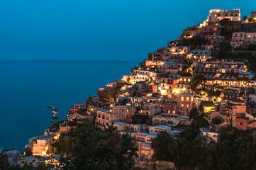 Wall Mural - Positano by night, Amalfi Coast, italy