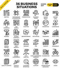 Business situation icons