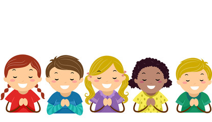 children praying clipart - photo #12