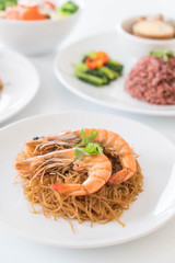 Shrimp potted with vermicelli