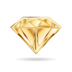 Gold wedding diamond  logo. Vector graphic design