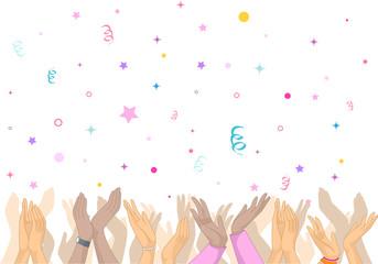 Hands Clap Confetti