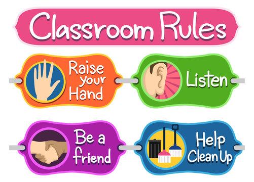 Classroom Rules Bulletin Elements