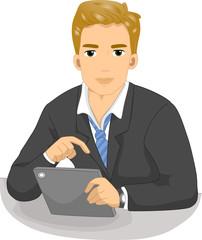 Man Business Tablet