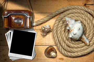 Instant Photos - Rope and Seashells