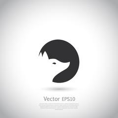 Stylized fox head icon vector