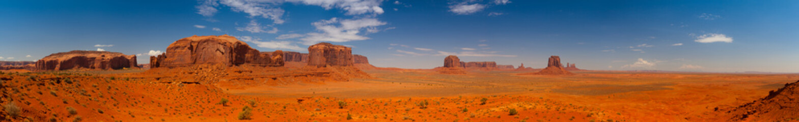 Iconic peaks of rock formations in the Navajo Park of Monument V