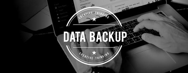 Wall Mural - Data Backup Information Storage Server Technology Concept