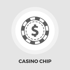 Gambling chips flat icon.
