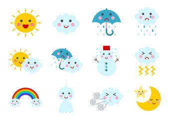 天気 イラスト アイコン Weather icons