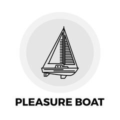 Pleasure Boat Line Icon
