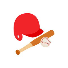 Baseball icon, isometric 3d style
