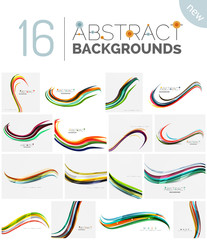 Motion concept abstract background set