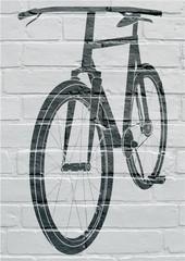 Art urbain, bicyclette.