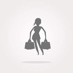 shopping woman icon vector, shopping woman icon, shopping woman icon picture, shopping woman icon flat, shopping woman icon, shopping woman web icon, shopping woman