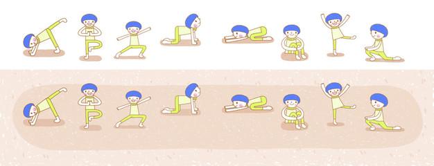 Yoga poses series